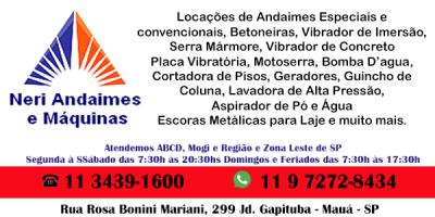 Nery Andaimes e Máquina Para Locação no Abc e Regiões