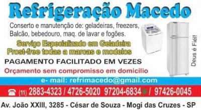 Refrigeração Macedo em Mogi das Cruzes